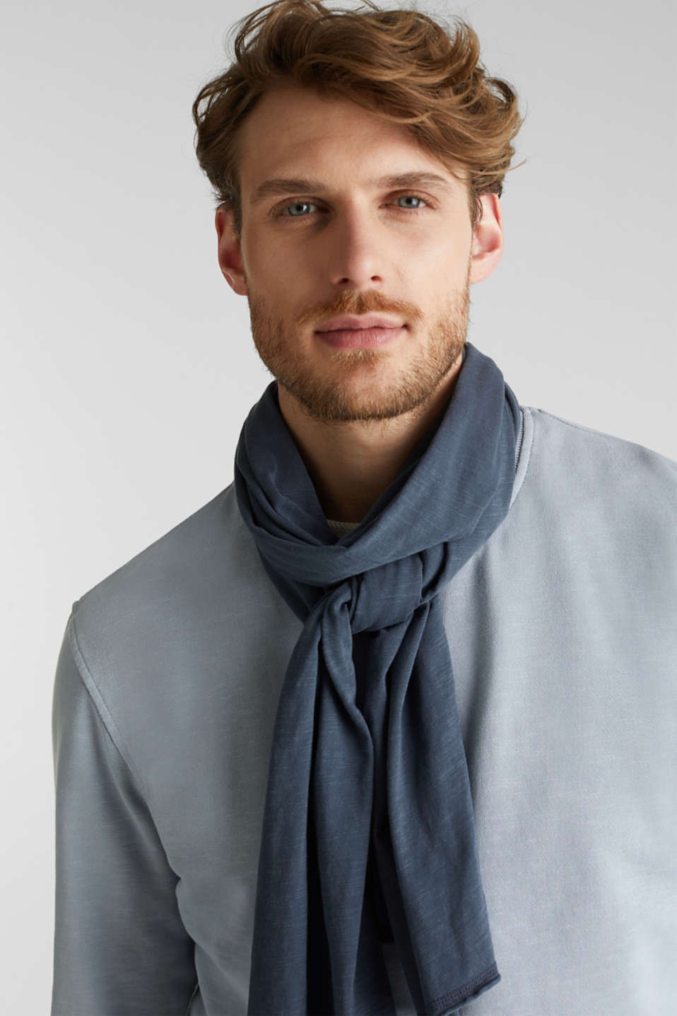 EarthColors®: jersey scarf, NAVY, detail image number 1