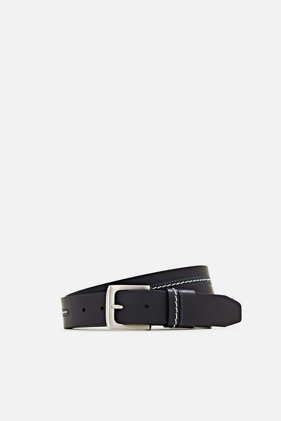 Esprit - Embroidered leather belt