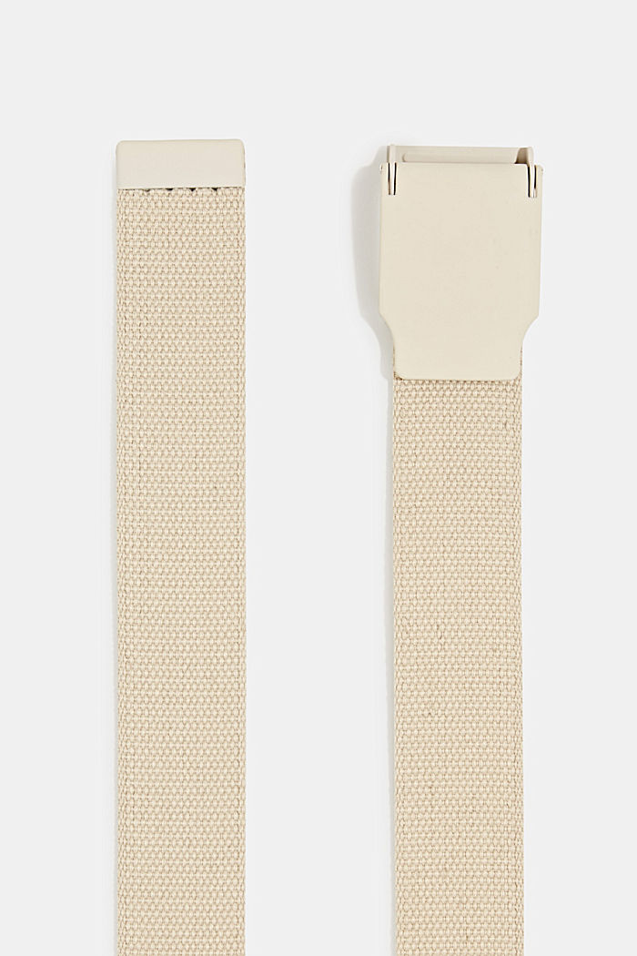 Woven belt with a plaque buckle, LIGHT BEIGE, detail image number 1