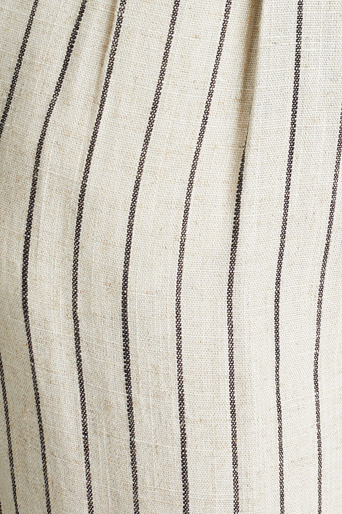 With linen: chinos with a button placket, SAND, detail image number 4