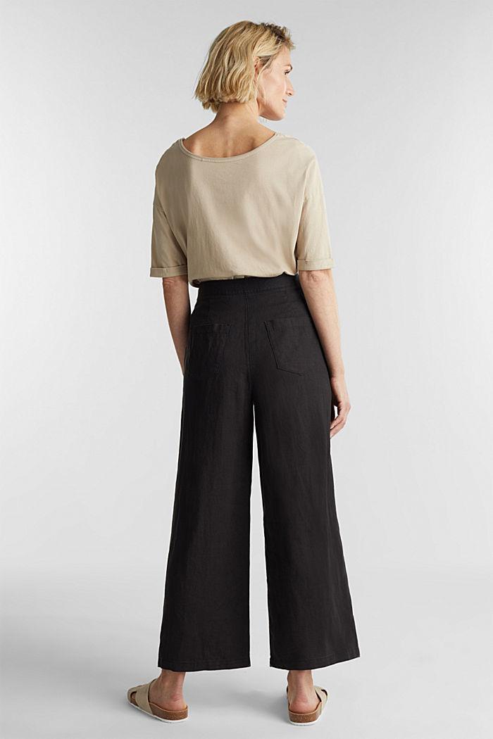 Van linnen: culotte met basic look, BLACK, detail image number 3