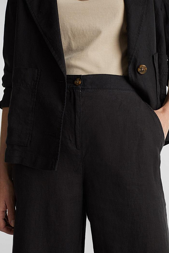 Van linnen: culotte met basic look, BLACK, detail image number 2