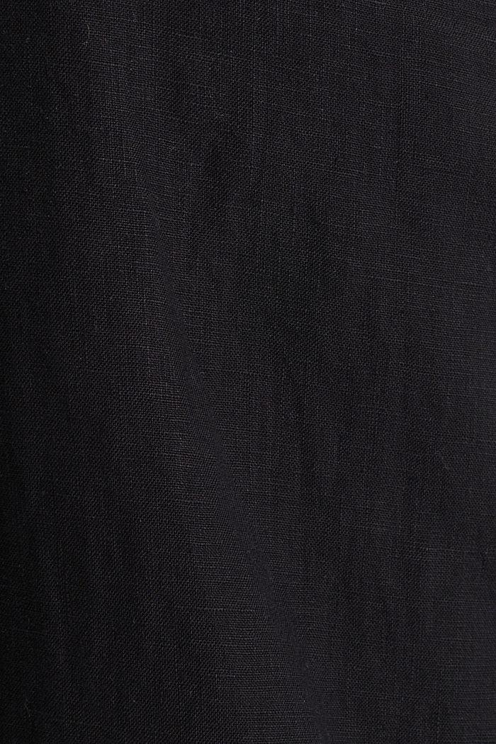 Van linnen: culotte met basic look, BLACK, detail image number 4