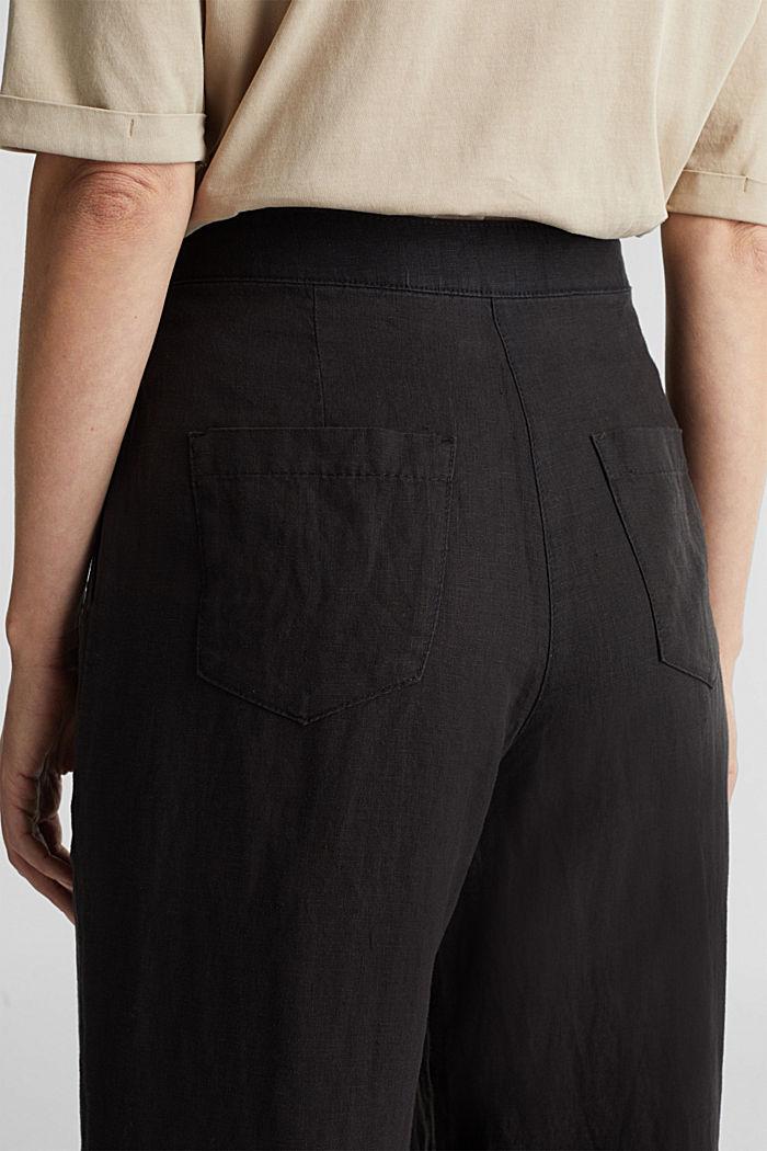 Van linnen: culotte met basic look, BLACK, detail image number 5