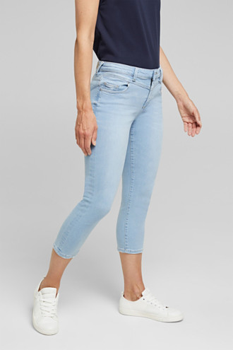 7/8-length jeans with organic cotton