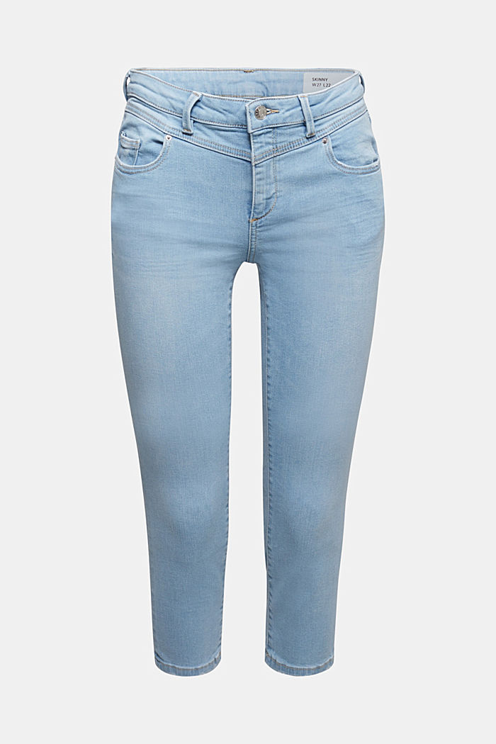 7/8-length jeans with organic cotton, BLUE LIGHT WASHED, detail image number 6