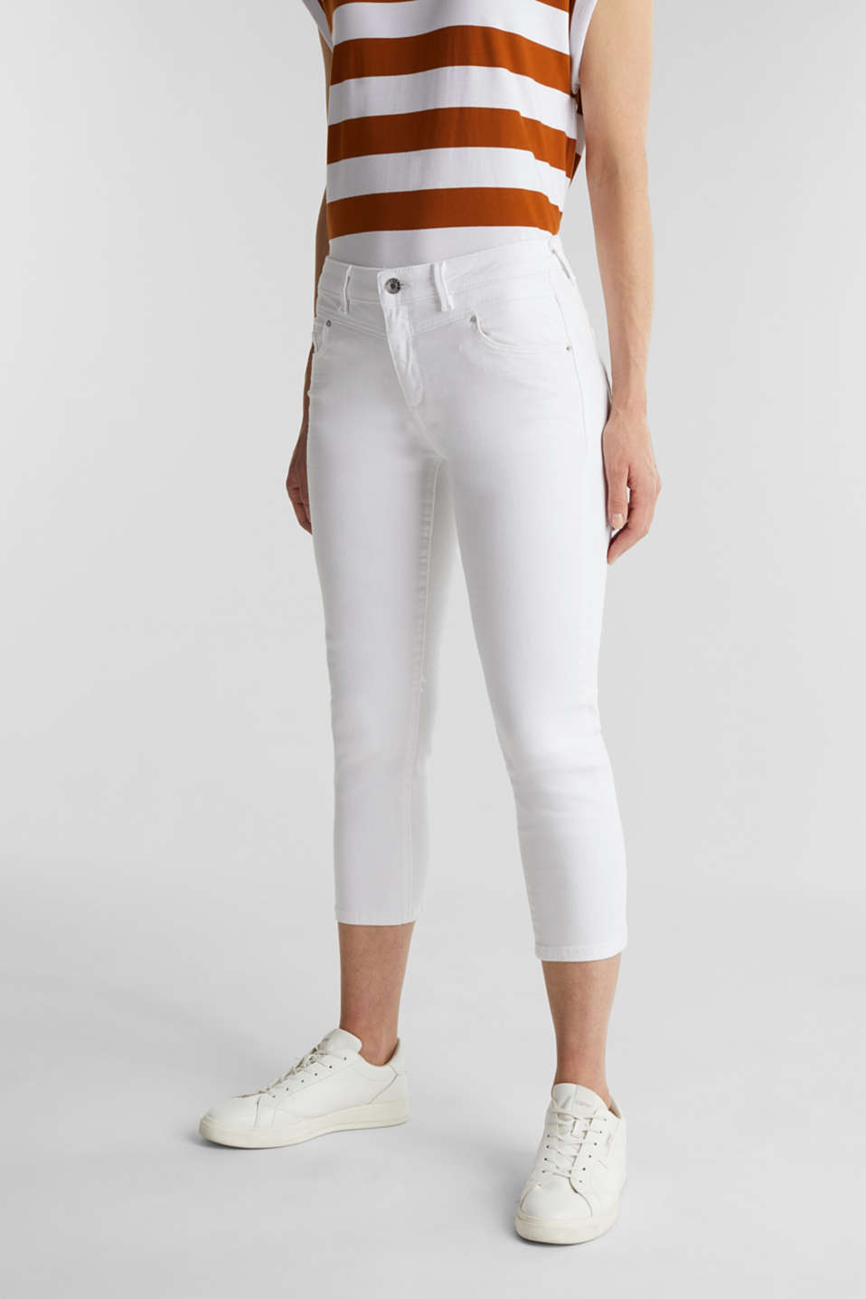 Esprit - Cropped jeans with organic cotton