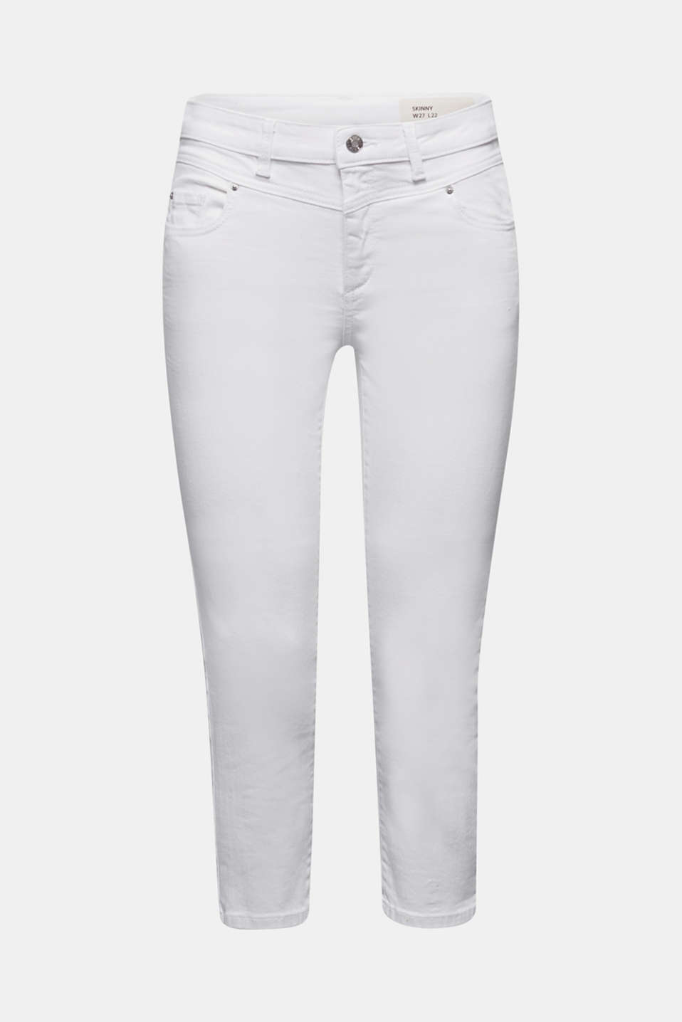 Cropped jeans with organic cotton, WHITE, detail image number 7