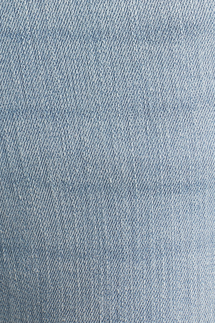 Ankle-length jeans with frayed leg openings, BLUE BLEACHED, detail image number 4