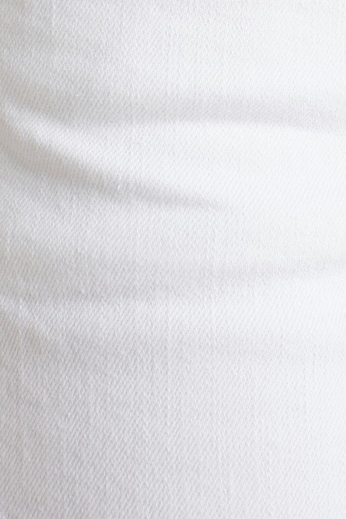 Knöchellange Jeans mit Fransensaum, WHITE, detail image number 4