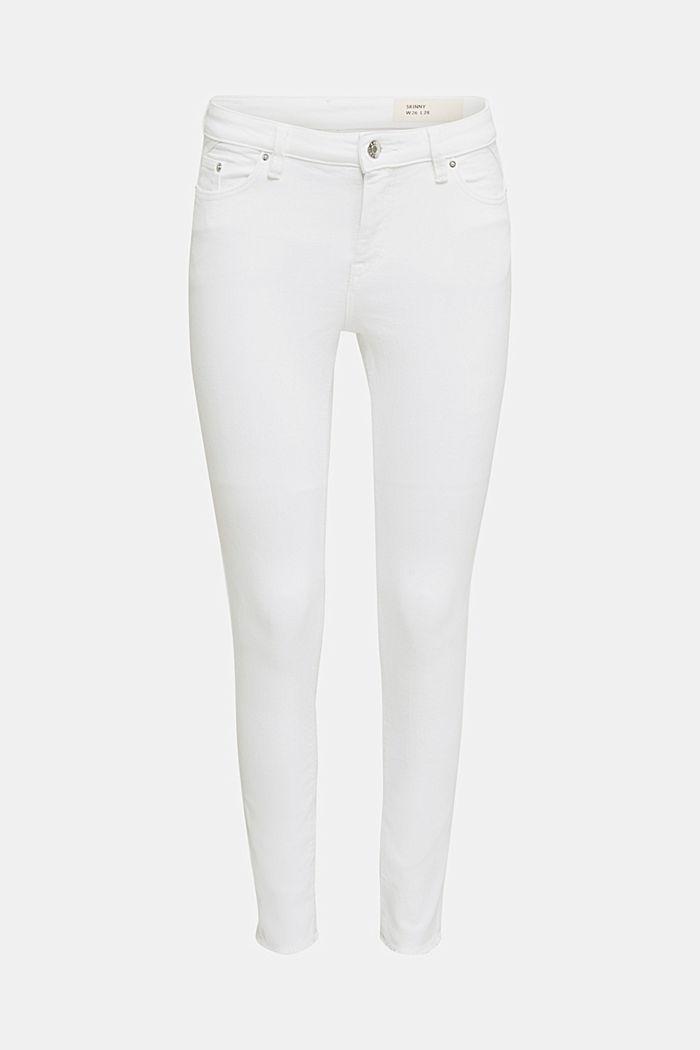 Knöchellange Jeans mit Fransensaum, WHITE, detail image number 7
