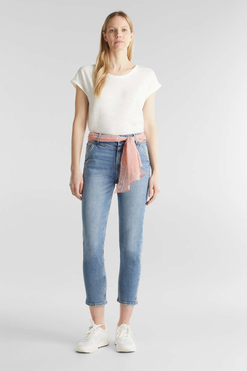 Esprit - Ankle-length jeans with a bandana