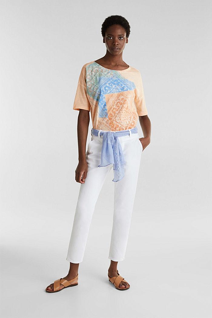 Enkellange jeans met bandana, WHITE, detail image number 0