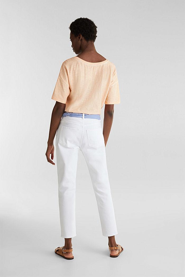 Enkellange jeans met bandana, WHITE, detail image number 2