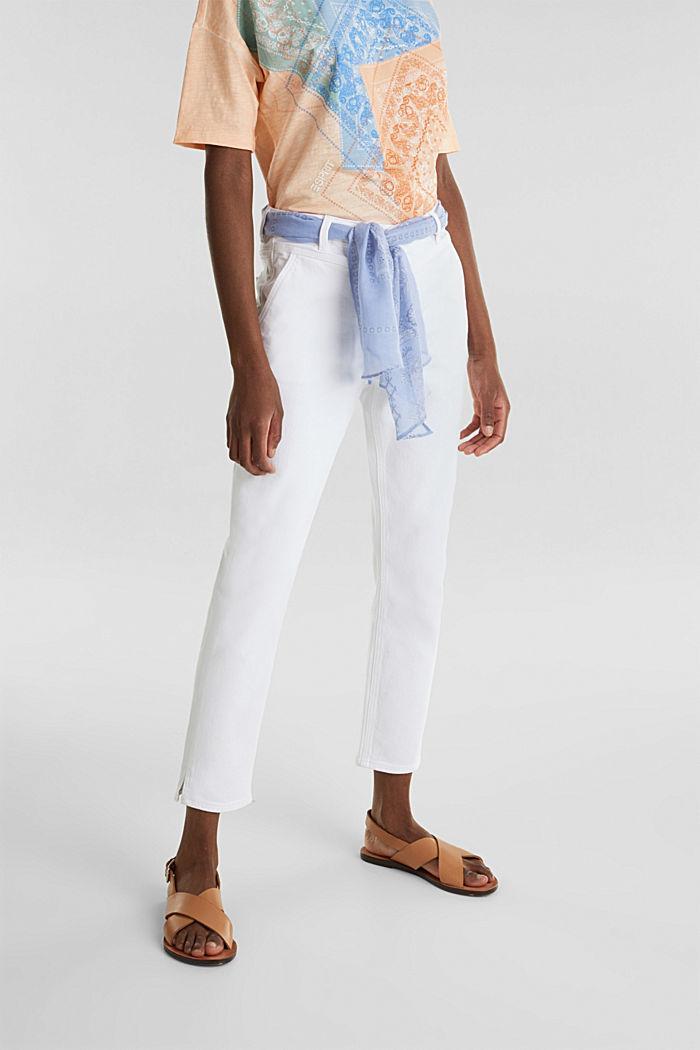 Enkellange jeans met bandana, WHITE, detail image number 5