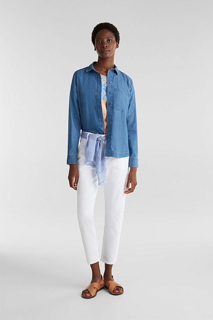 Knöchellange Jeans mit Bandana