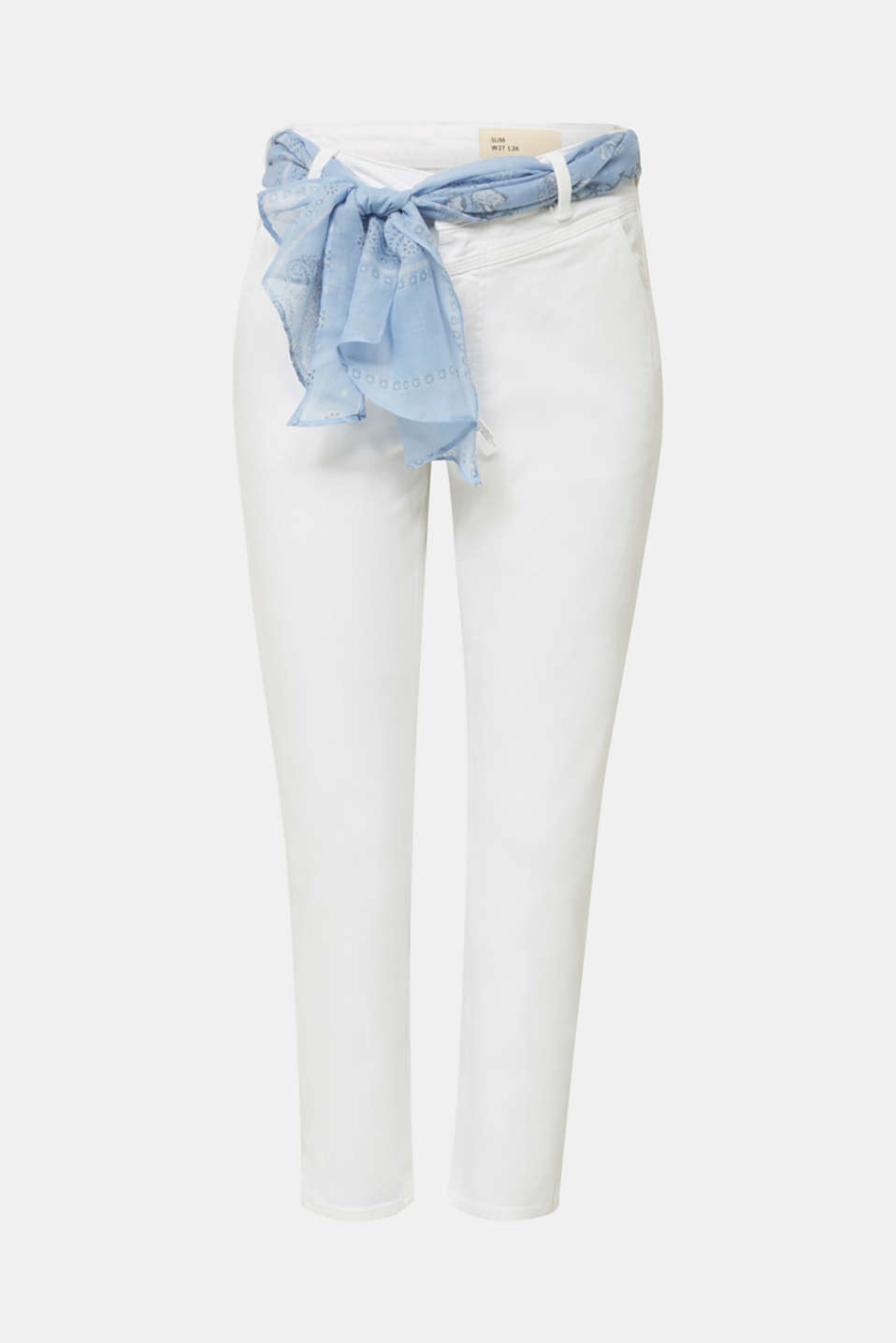 Ankle-length jeans with a bandana, WHITE, detail image number 6