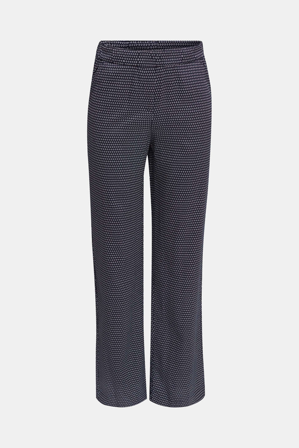Trousers with a mixed pattern print made of TENCEL™, NAVY 3, detail image number 6