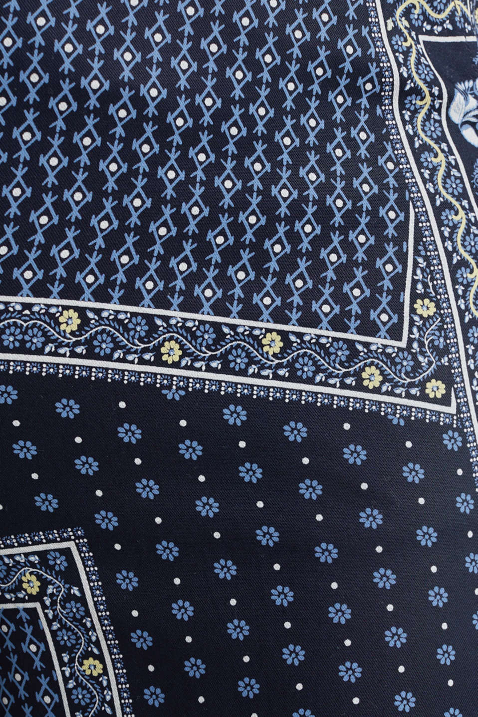 Made of TENCEL™: trousers with print, NAVY 4, detail image number 4