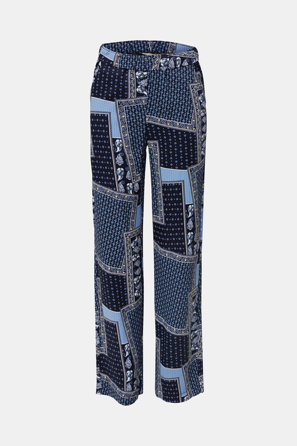 Made of TENCEL™: trousers with print, NAVY 4, detail image number 5