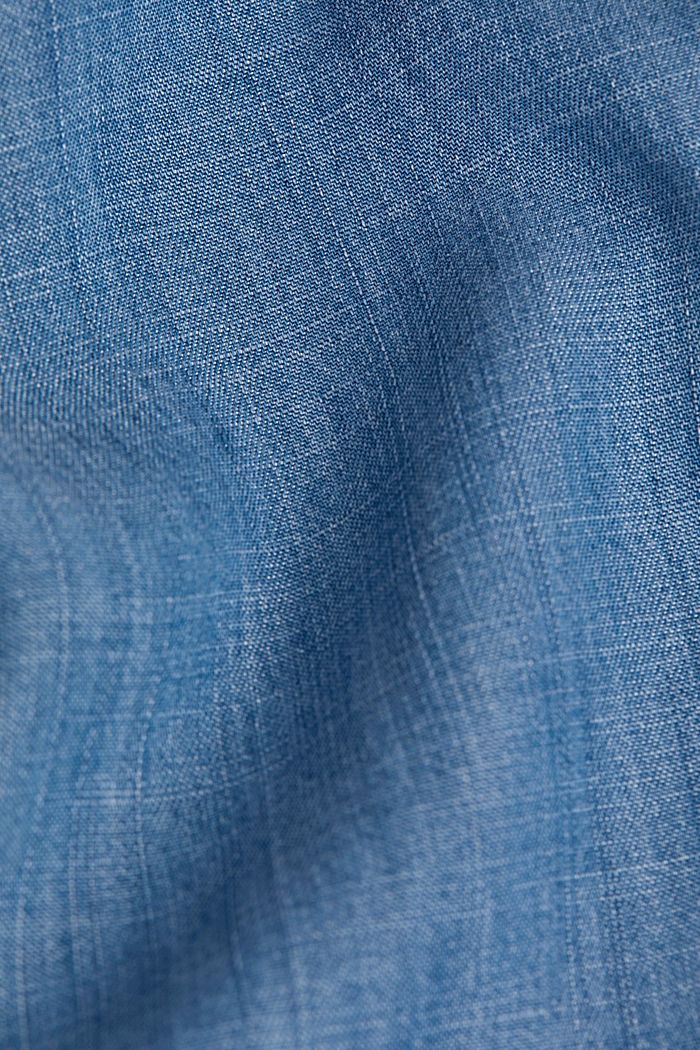 Denim tracksuit bottoms made of lyocell, BLUE MEDIUM WASHED, detail image number 4