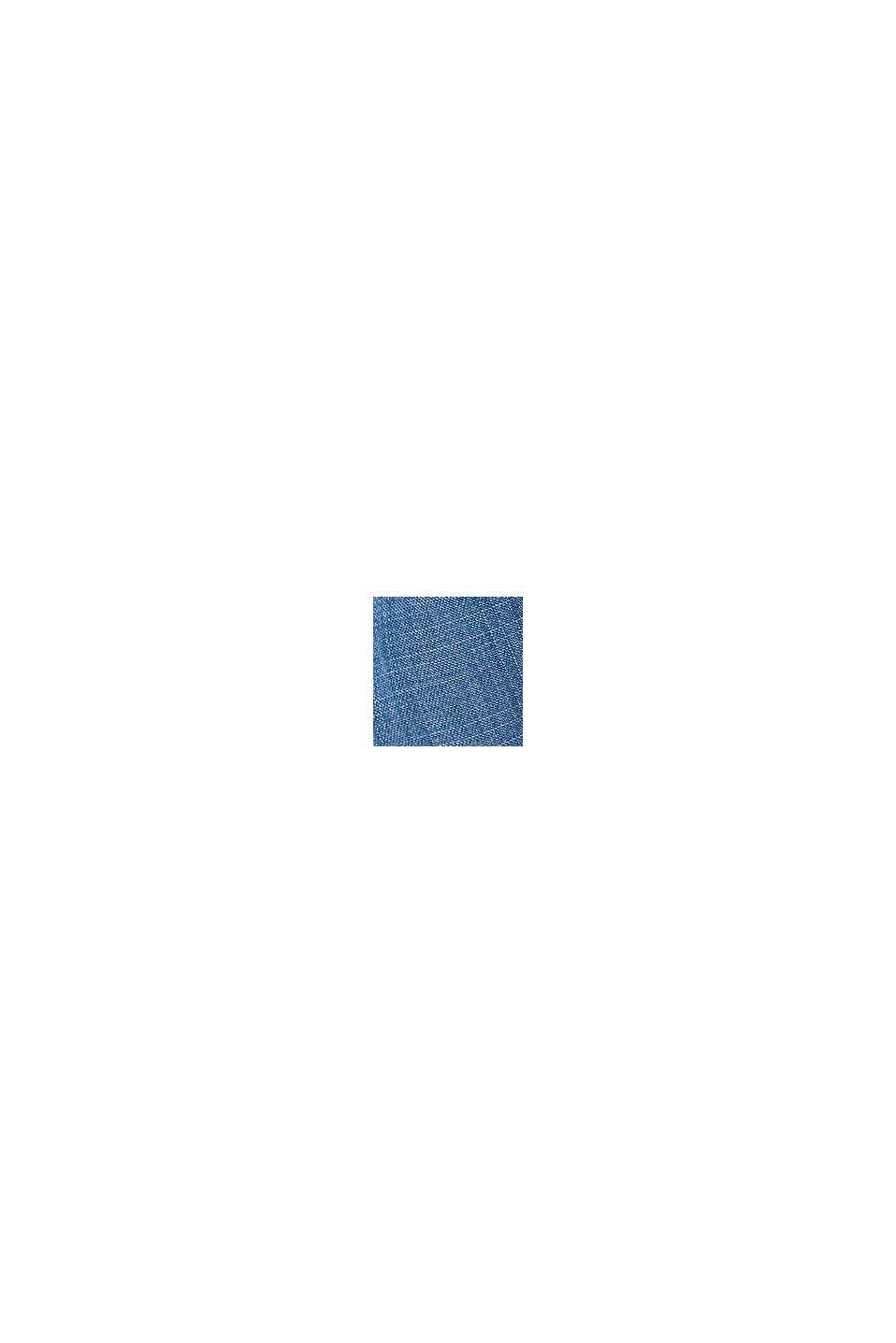 Pantalones jogging de tejido vaquero confeccionado en lyocell, BLUE MEDIUM WASHED, swatch