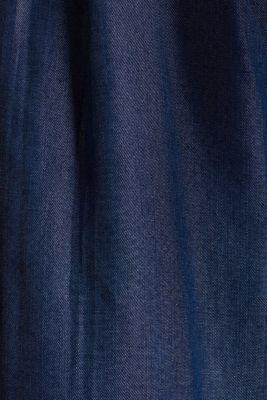 Made of TENCEL™: Trousers in a denim look, BLUE DARK WASH, detail