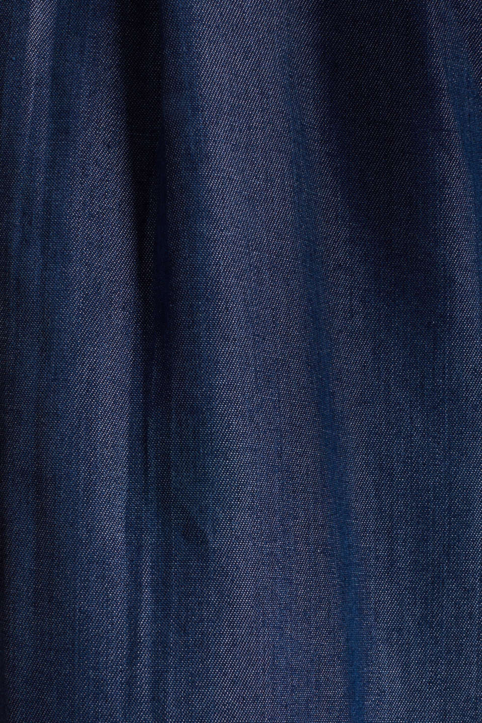 Made of TENCEL™: Trousers in a denim look, BLUE DARK WASH, detail image number 4