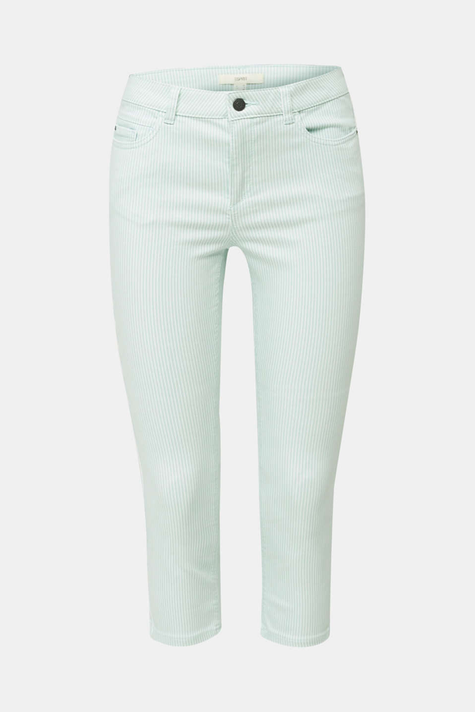 REPREVE striped Trousers, recycled, LIGHT AQUA GREEN, detail image number 7