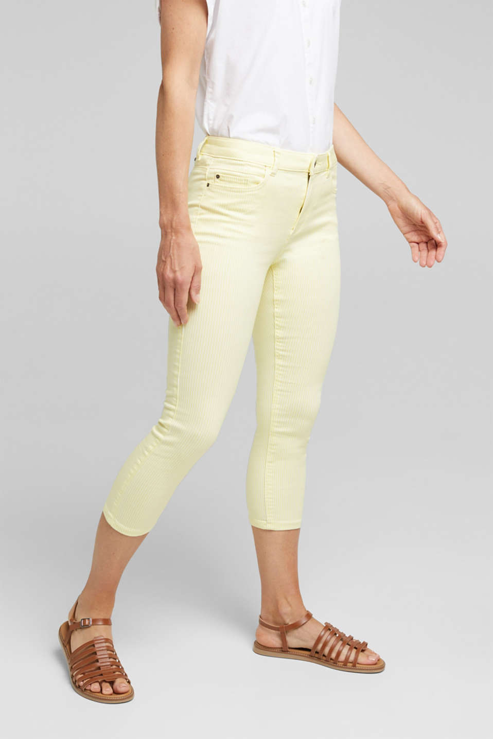 Esprit - REPREVE striped Trousers, recycled