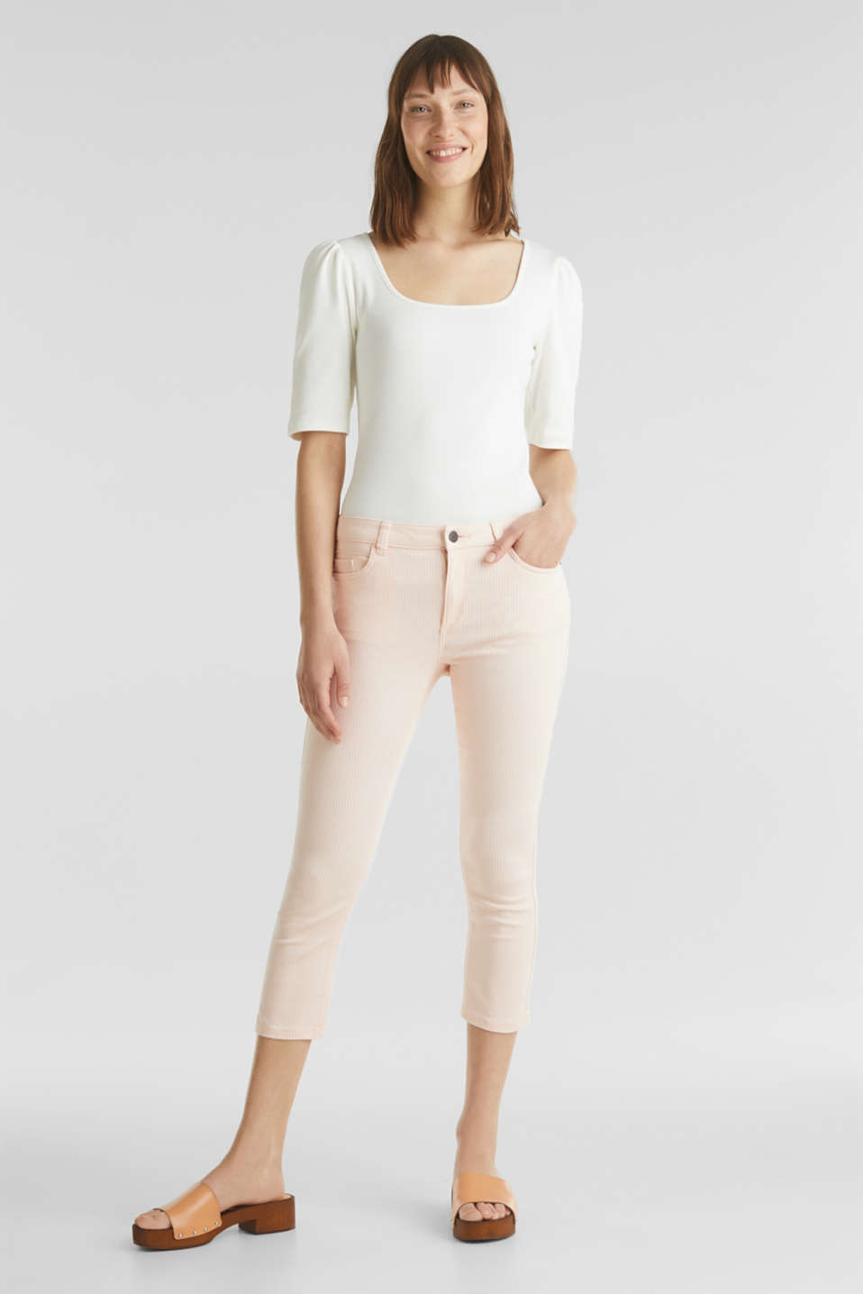 REPREVE striped Trousers, recycled, PEACH, detail image number 0
