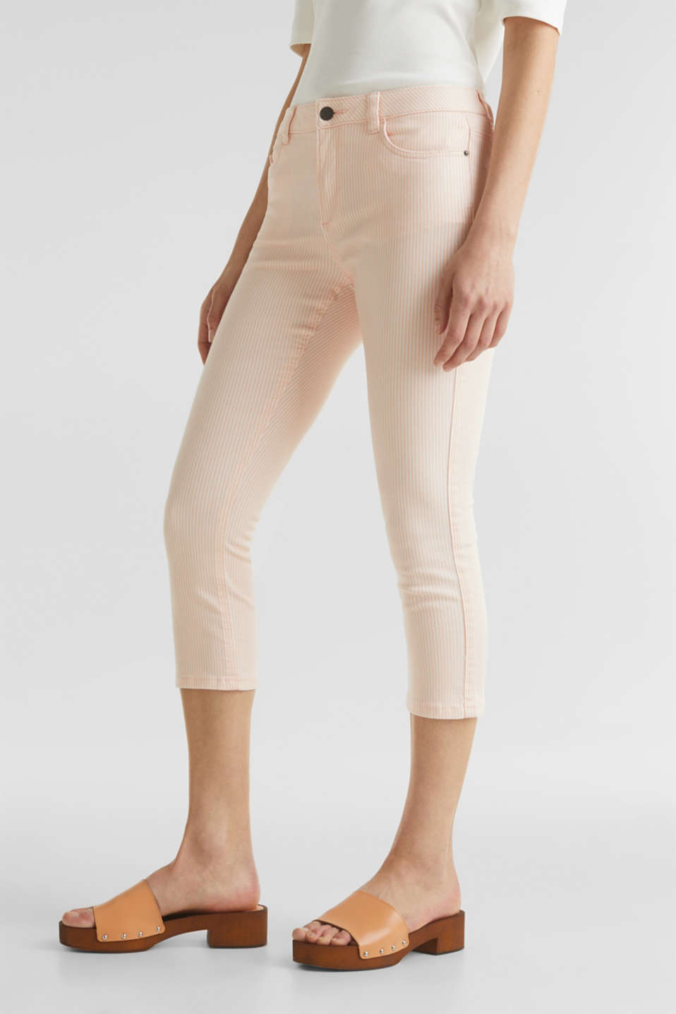 REPREVE striped Trousers, recycled, PEACH, detail image number 7