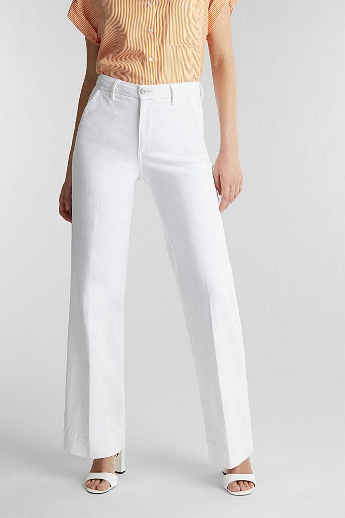 Jeans med vida ben och Lycra®