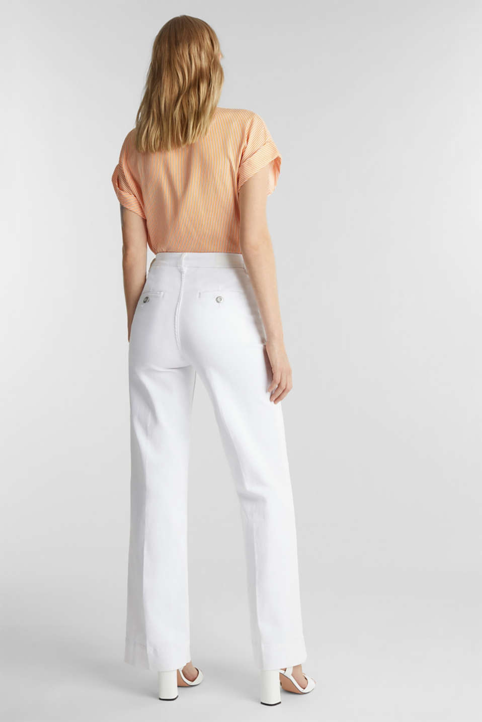 Wide-leg jeans containing Lycra®, WHITE, detail image number 2
