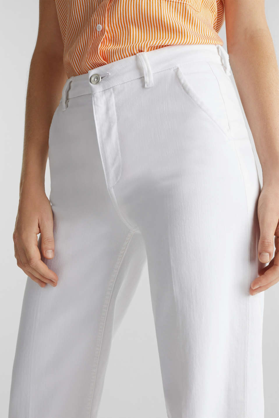 Wide-leg jeans containing Lycra®, WHITE, detail image number 1