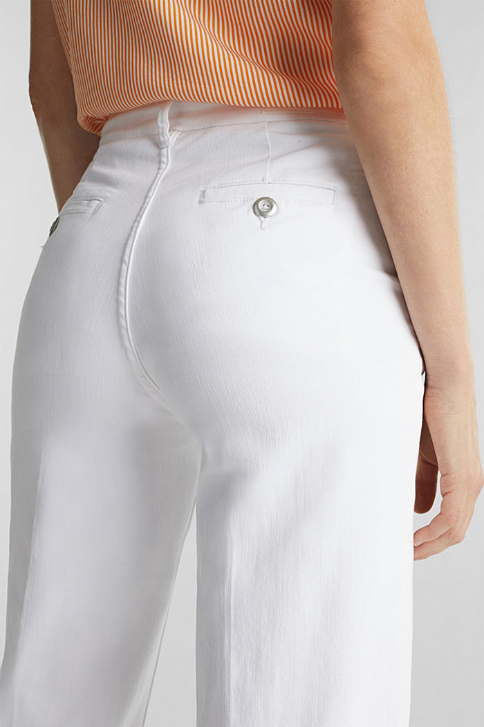 Wide-leg jeans containing Lycra®, WHITE, detail image number 4