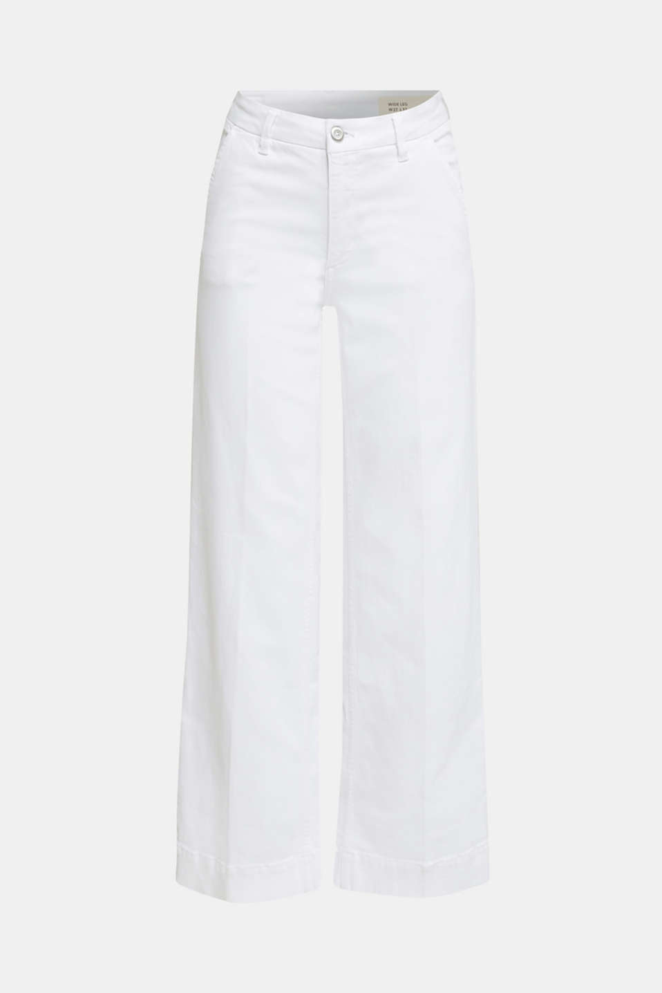 Wide-leg jeans containing Lycra®, WHITE, detail image number 7
