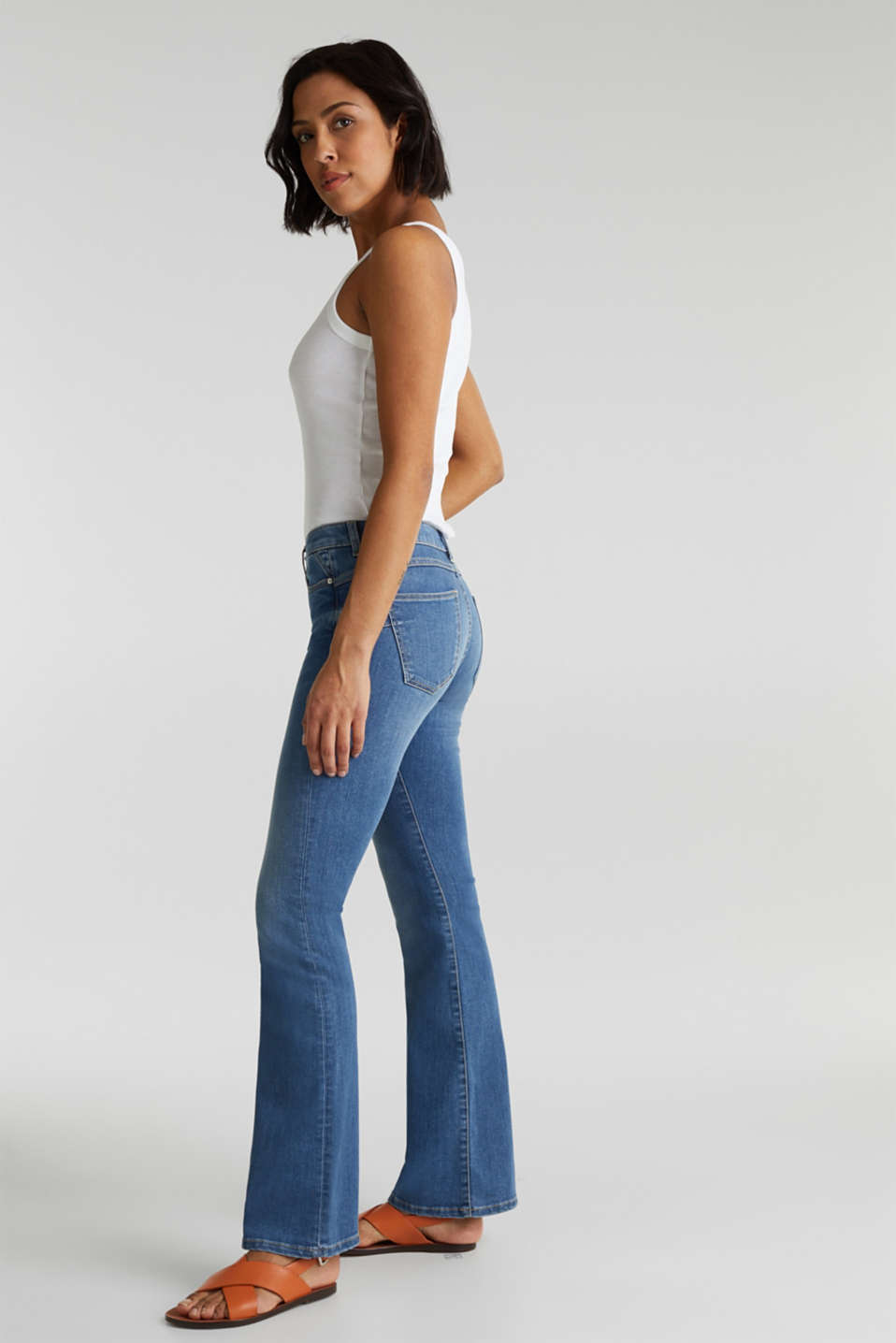 Lightweight shaping jeans, BLUE MEDIUM WASH, detail image number 1