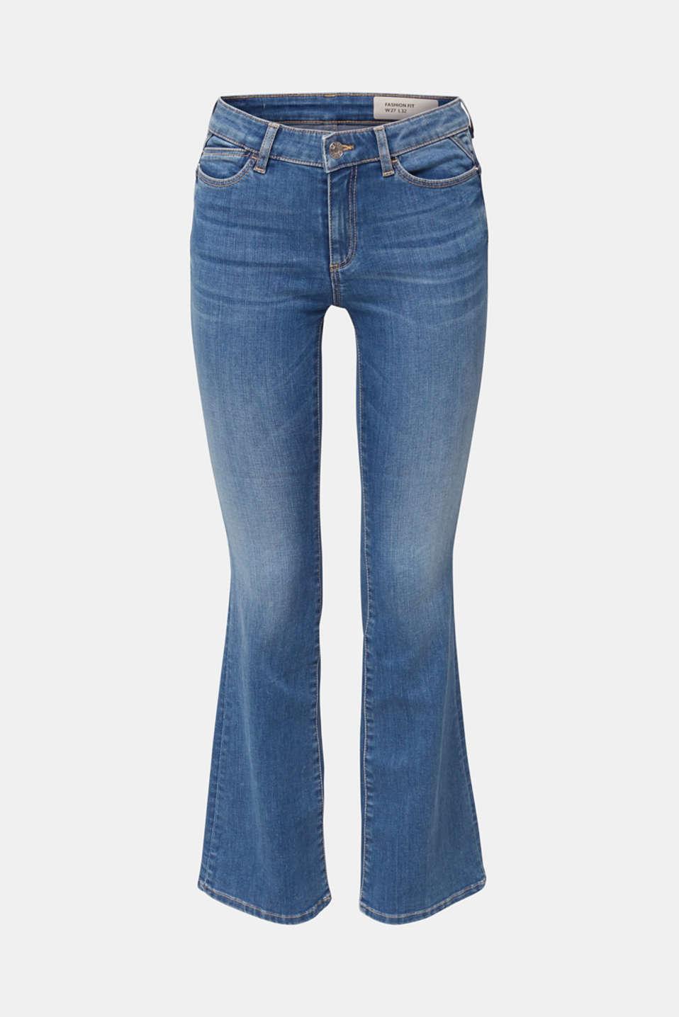 Lightweight shaping jeans, BLUE MEDIUM WASH, detail image number 6