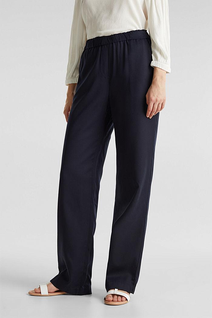 Pants mit Comfy-Bund, TENCEL™, NAVY, detail image number 4