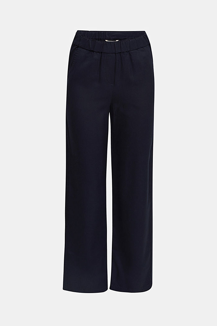 Pants mit Comfy-Bund, TENCEL™, NAVY, detail image number 7