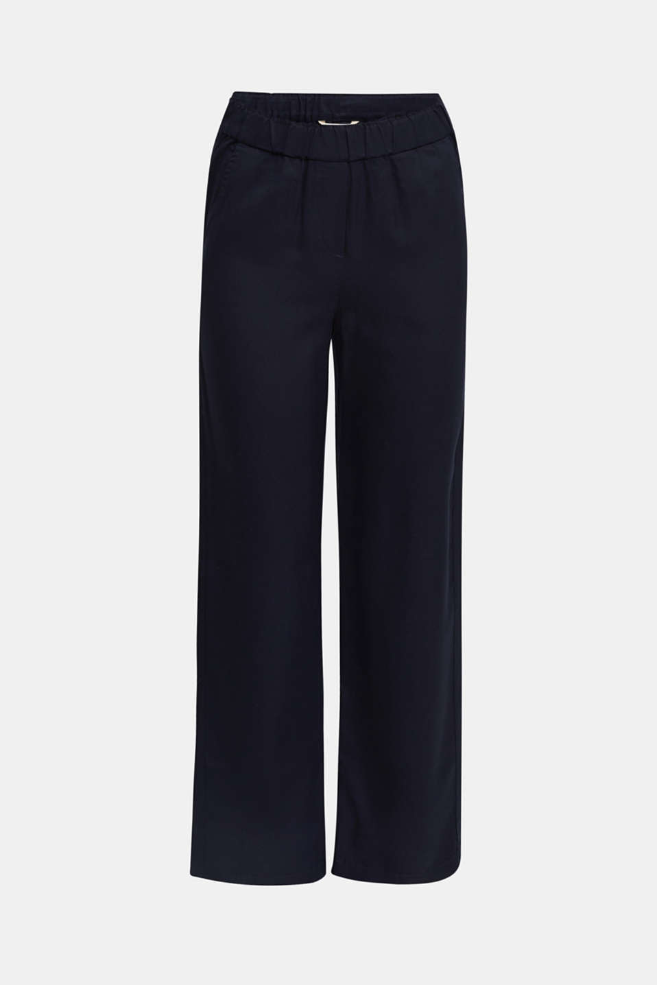 Trousers with a comfy waistband, TENCEL™, NAVY, detail image number 7