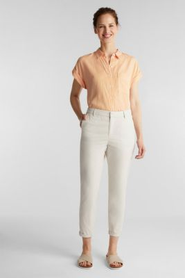 Papertouch chinos, organic cotton, SAND, detail