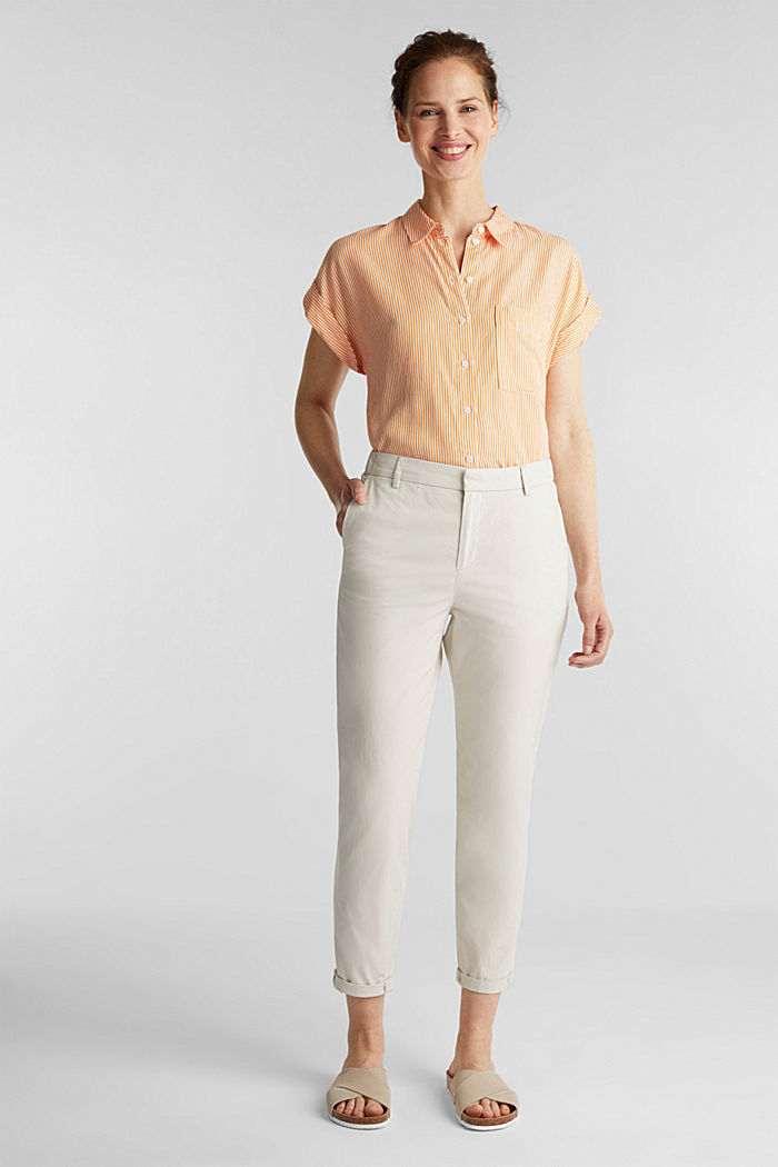 Papertouch chinos, organic cotton, SAND, detail image number 1