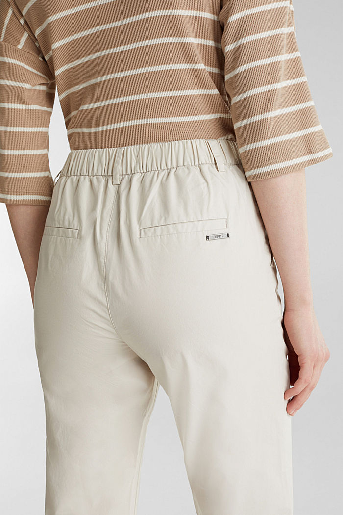 Chino Papertouch en coton bio, SAND, detail image number 2