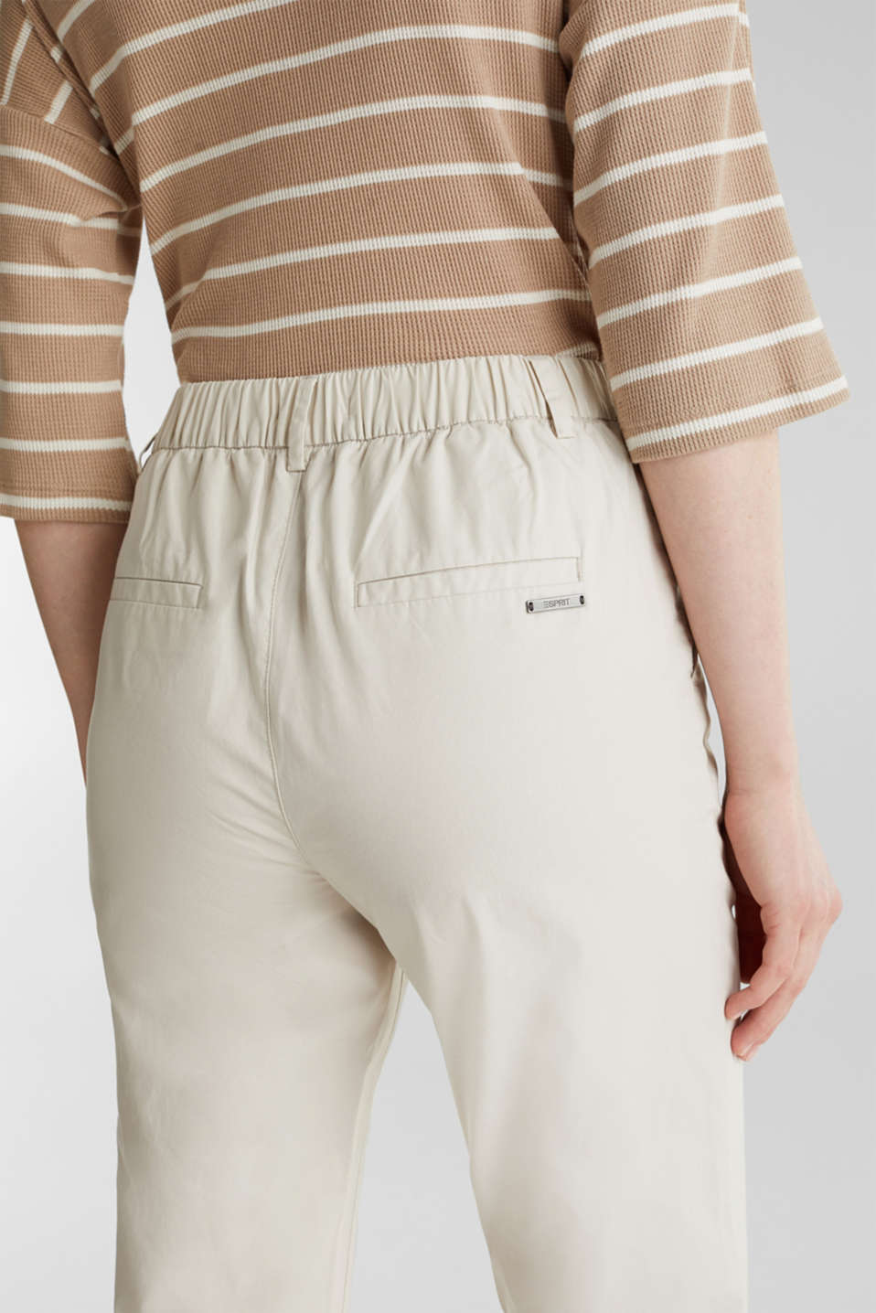 Papertouch chinos, 100% organic cotton, SAND, detail image number 2