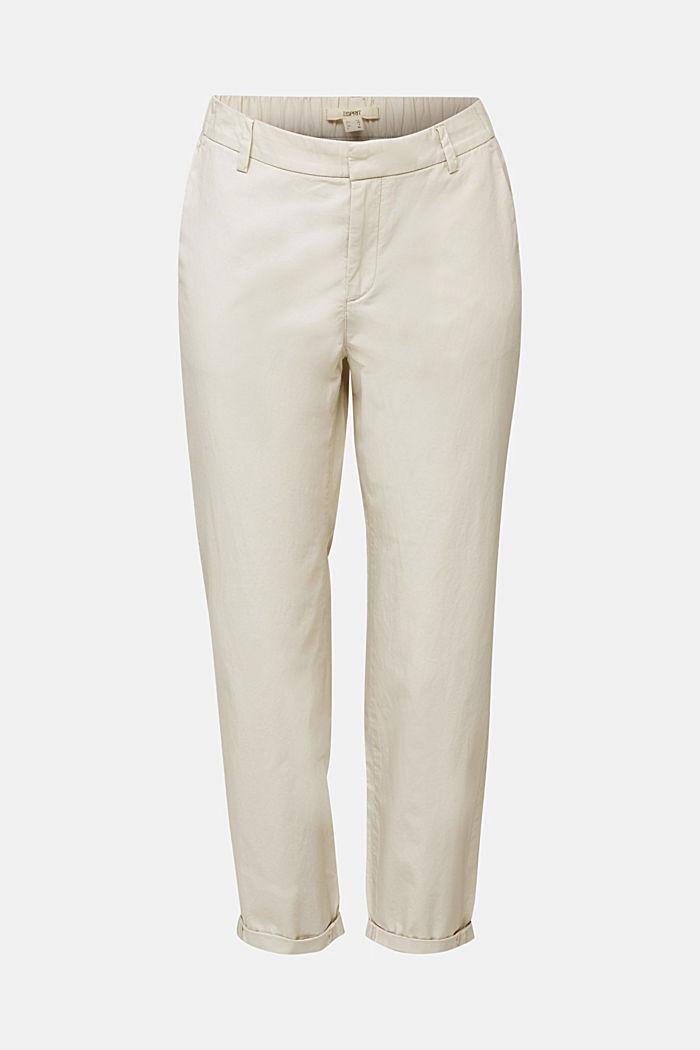 Pantalones chinos con tacto de papel, algodón ecológico, SAND, detail image number 5