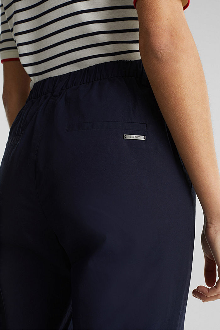 Papertouch chinos, organic cotton, NAVY, detail image number 2