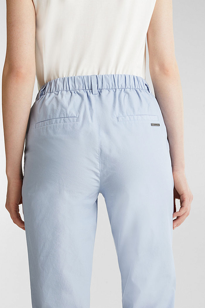 Papertouch chinos, organic cotton, LIGHT BLUE, detail image number 5