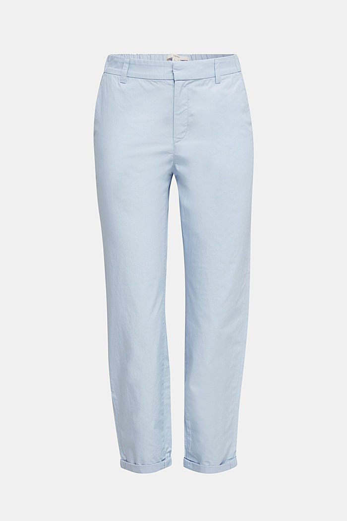 Papertouch chinos, organic cotton, LIGHT BLUE, detail image number 6